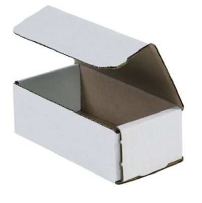 "Pick Quantity! 1-500 6x3x2"" White Corrugated Mailer Small Folding Box Light Ship"