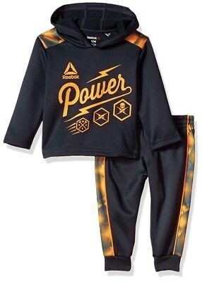 NWT REEBOK Power MATCHING-SET Hoodie And Warm Up Pant 6-9 Mo Great Gift Set