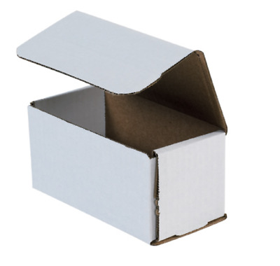 "Pick Quantity! 1-500 6x3x3"" White Corrugated Mailer Small Folding Box Light Ship"
