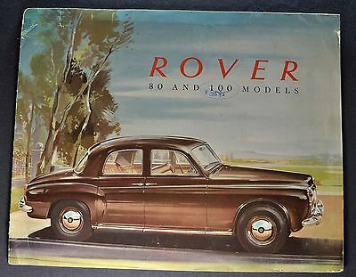 1960 Rover 80 & 100 Sales Brochure Folder Nice Original 60