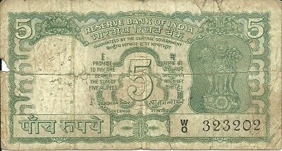 India 5 Rupees  1970  P56A