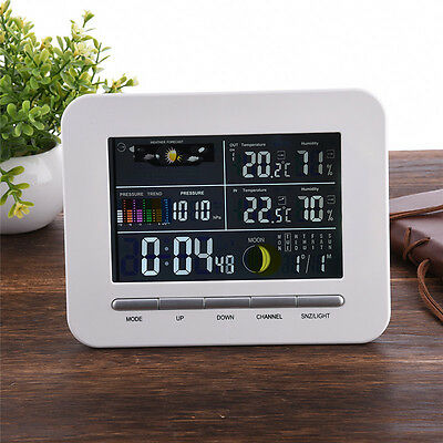 Indoor Wireless Thermometer Hygrometer Digital Weather Station Color Display/HOT