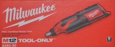 Milwaukee 2460-20 12 Volt M12 Cordless Rotary Tool (Tool + Discs Only) New