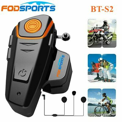 Bluetooth Helmet Communication Motorcycle Intercom Headset Motorbike Interphone