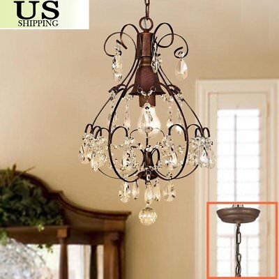 Rustic Crystal Chandelier Ceiling Down Antique Crystal Ceiling Light Pendant OY