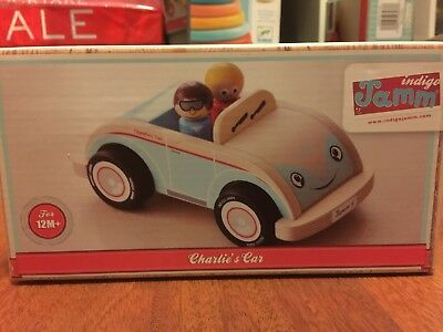 Indigo Jamm Charlie's Car IIJ8031 Wooden Vehicle Toy