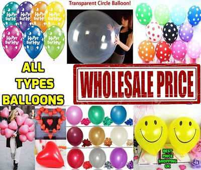 100 LARGE PLAIN BALONS BALLONS HELLIUM BALLOONS Birthday Wedding BALOONS PARTY