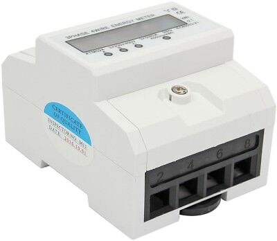 Three-phase Four-wire DIN-Rail Kilowatt Hour KWH Energy Meter 50-60Hz 3x5(80A)
