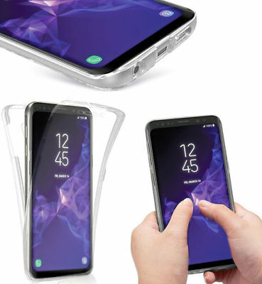 TPU Soft 360 Clear Gel Front and Back Case Cover For Samsung Galaxy S9 & S9 Plus