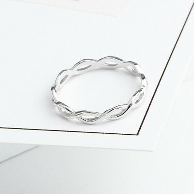 Vintage Style Women 925 Sterling Silver Celtic Knot Engagement Rings Size 6/7/8