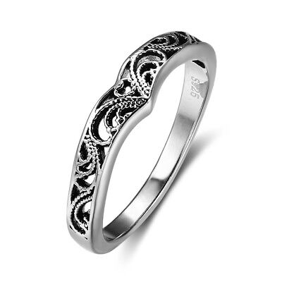 Fashion Vintage Women 925 Sterling Silver Celtic Knot Rings Jewelry Size 6/7/8