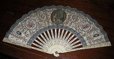 A good French hand fan/éventail by Duvelleroy of Paris