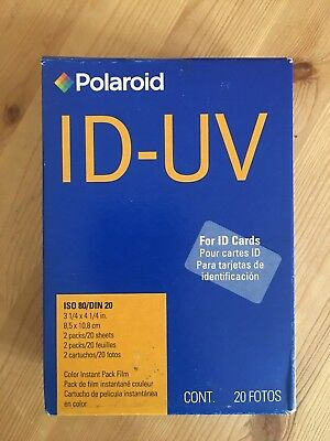 Rare Sold Out Polaroid ID UV ISO 80 Instant Film