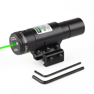 Tactical Aiming Green Dot Laser Sight Weaver With Picatinny 20mm Rail Mount
