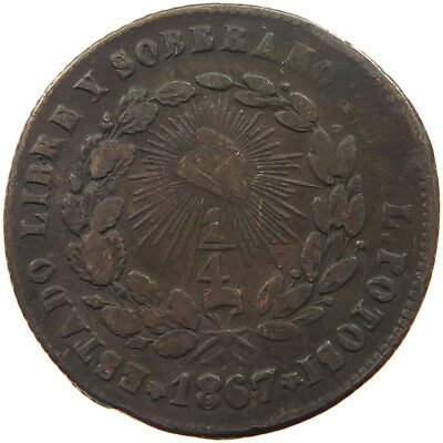 MEXICO 1/4 REAL 1867   #t37 213
