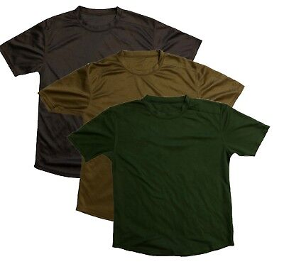 British Army Issue Sweat Wicking Sports T-Shirt Top, Green Brown or Sand - Used