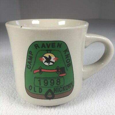 "Camp Raven Knob Mug Old Hickory 1998 3.5"" Tall Ceramic"