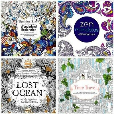 Secret Garden: Time Travel Adult English Graffiti Coloring Painting Book For Kid