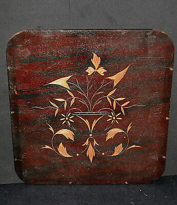 LOOK Decorative 1920's Carved Incised Board Chair Seat Replacement Floral Design