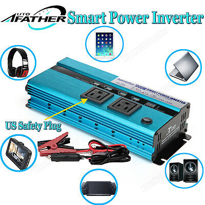 1500W/3000WATT Modified Sine Wave Power Inverter DC To AC Car Caravan Converter