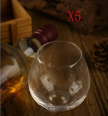 New 5X Capacity 440ML Height 95MM Transparent Red Wine Glass/Glassware %