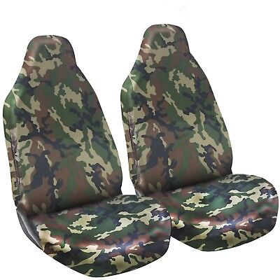 Green Camo Front Seat Covers Heavy Duty For RENAULT KANGOO 5 SEATER 09>