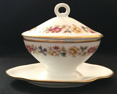 Antique Richard Ginori Italy Floral Salesman Sample Mini Miniature Soup Tureen