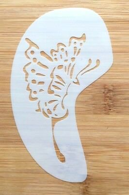 Face paint stencil reusable washable butterfly wing face and cheek c11cms x 7cms