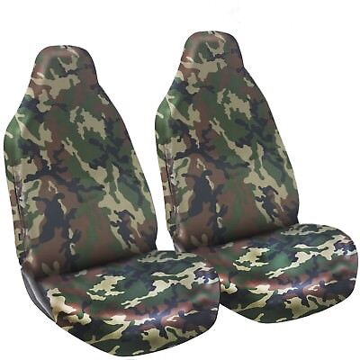 VW TRANSPORTER T6 SINGLE HEAVY DUTY GREEN CAMO VAN SEAT COVER
