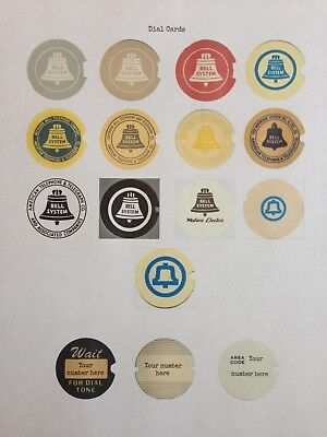 16 Western Electric/Bell Systems Rotary Dial Cards CUSTOMIZABLE