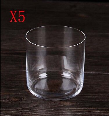 New 5X Capacity 330ML Height 80MM Transparent Thin Whisky Wine Glass/Glassware %