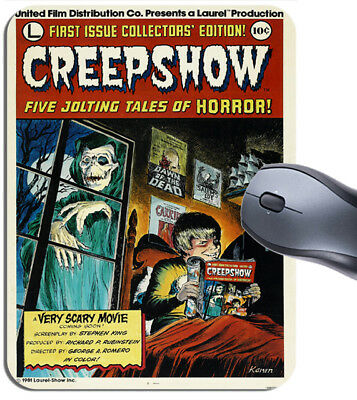 Creepshow Movie Poster Mouse Mat. Classic Horror Film High Quality Mouse Pad