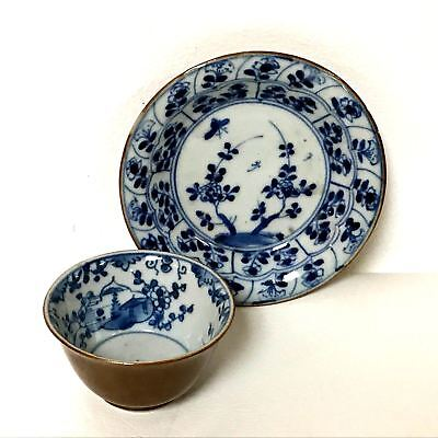 Antique Japanese Blue & White Glaze Tea cup & Saucer