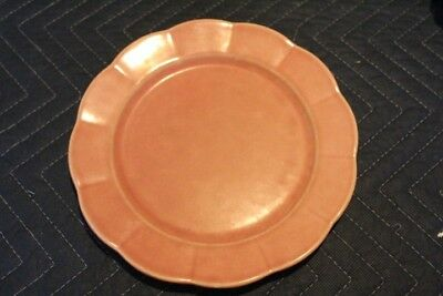 Vintage W.S. George petalware 9-1/4 inch plate, pink flower with scalloped edge