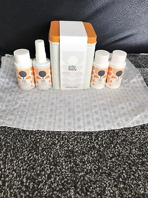 Orla Kiely Orange Caraway Minis in a Tin Gift Set Brand New Shower Gel, Lotion