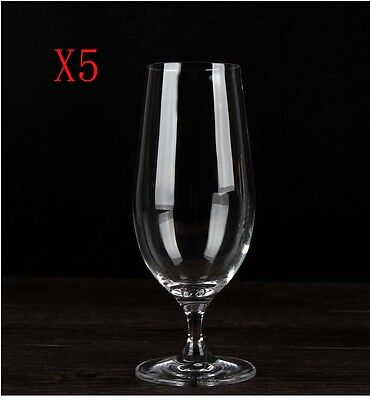 New 5X Capacity 460ML Height 196MM Transparent Red Wine Glass/Glassware %