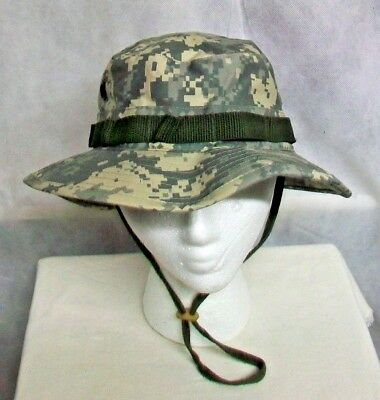 2190caaa489 U.s. Army Hot Weather Universal acu Camo Digicam Sun Boonie Cap Hat - Size 7