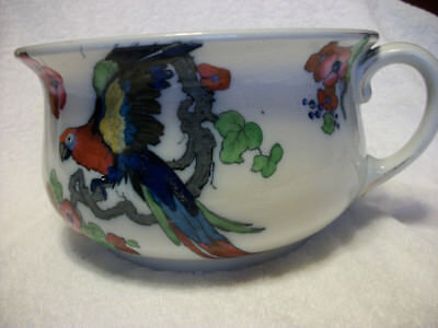 Rare Losol Ware Burslem England Andes Chamber Pot w/handle~ pink/red/blue/green