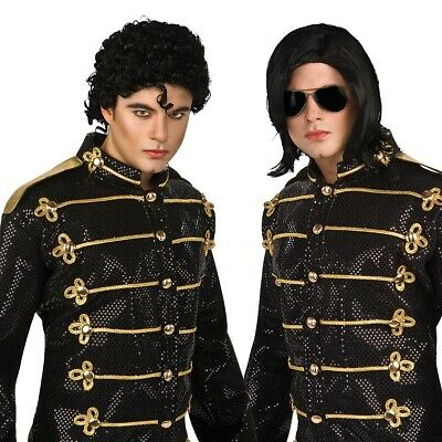 Michael Jackson Wig Adult Mens Pop Star Halloween Costume Accessory Fancy Dress