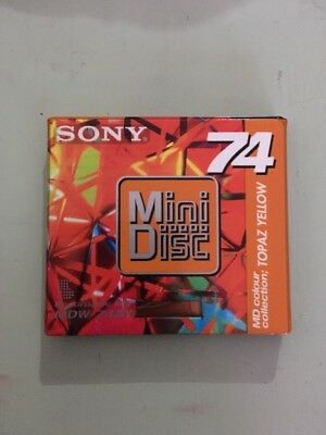 Genuine Vintage Sony Mini Disc Topaz Yellow 74 Min! Sealed! Nos! New!