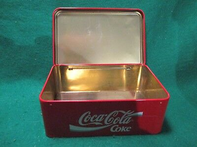 "Coca Cola 3"" x 5"" x 7 1/2"" Metal Canister"