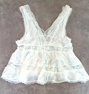 Free People Intimately Lace Camisole Womens Ivory NEW