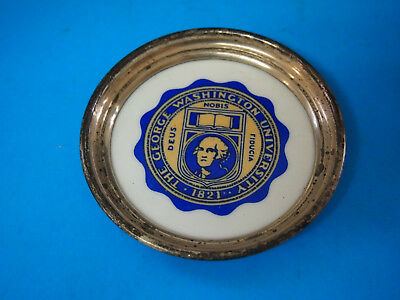 Sterling Silver ASTRAY/COASTER/Plate THE UNIVERSITY OF George Washington RARE