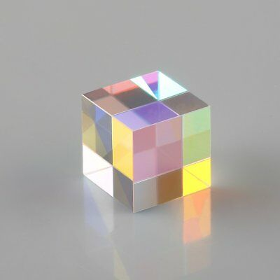1.5cm Cube Defective Cross Dichroic Prism RGB Combiner Splitter Glass Decor