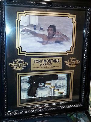 Scarface Tony Montana Picture In Shadow Box High Quality Acrylic