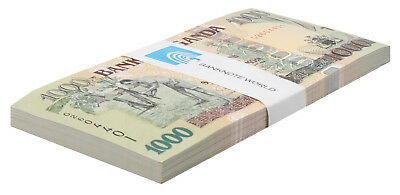 Uganda 1,000 (1000) Shillings X 50 Pieces (PCS), 2009,P-43c,UNC,Half Bundle,Pack