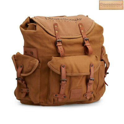 Coffee Colour Didgeridoonas The Rucksack With Top-grain leather straps