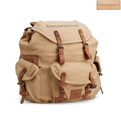 Tan Colour Didgeridoonas The Rucksack With Top-grain leather straps