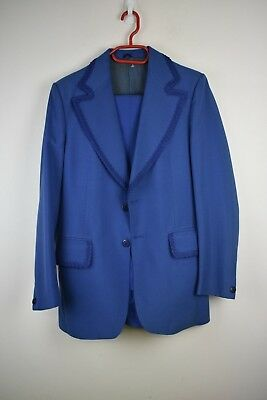 Vintage Sam Catanzeritti Mens suit with braided detail stunning size 40 x 32