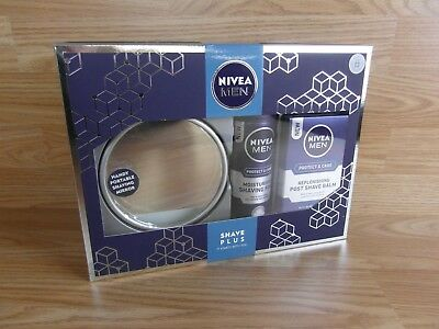 NIVEA FOR MEN Shave Plus Gift Set Shaving Foam, Post-Shave Balm & Mirror